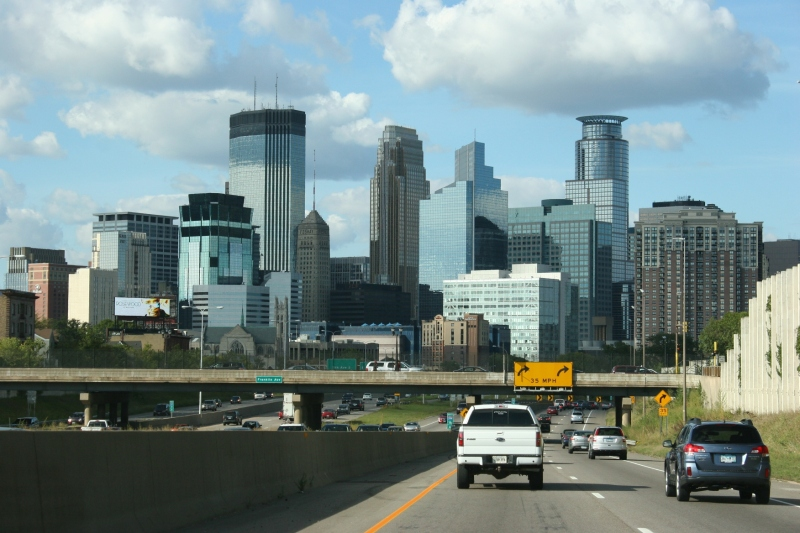 Frame 7: I love this painterly view of the Minneapolis skyline.