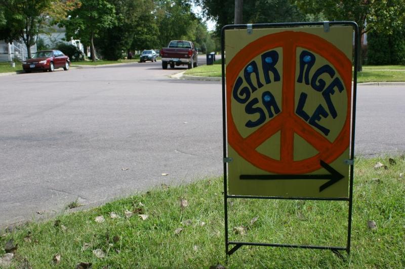 Peace symbol sign, orange