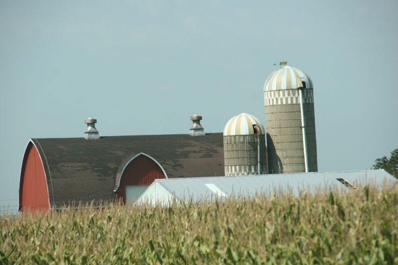 A farm site just minutes east of Utica.
