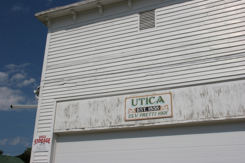 Utica may not have a website, but it has this sign to tell you a bit about the town.
