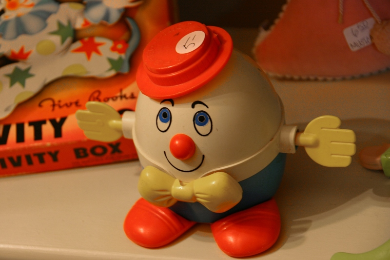 Humpty Dumpty, one of the toys in the toy area.