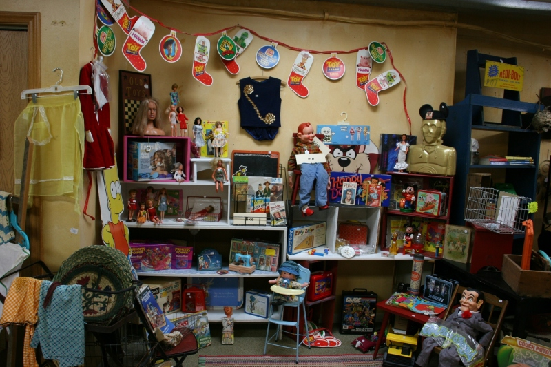 The toy section.
