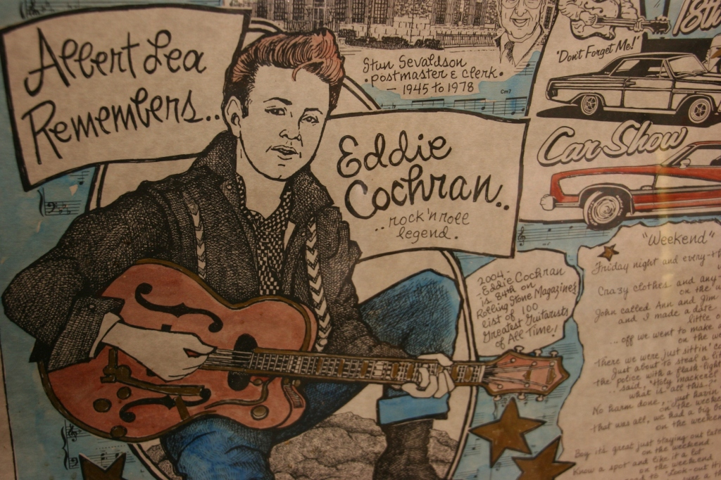 An example of Eloise's Eddie Cochran art.