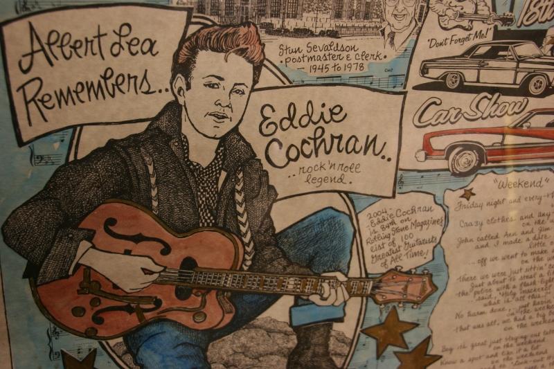 An example of Eloise's Eddie Cochran art.