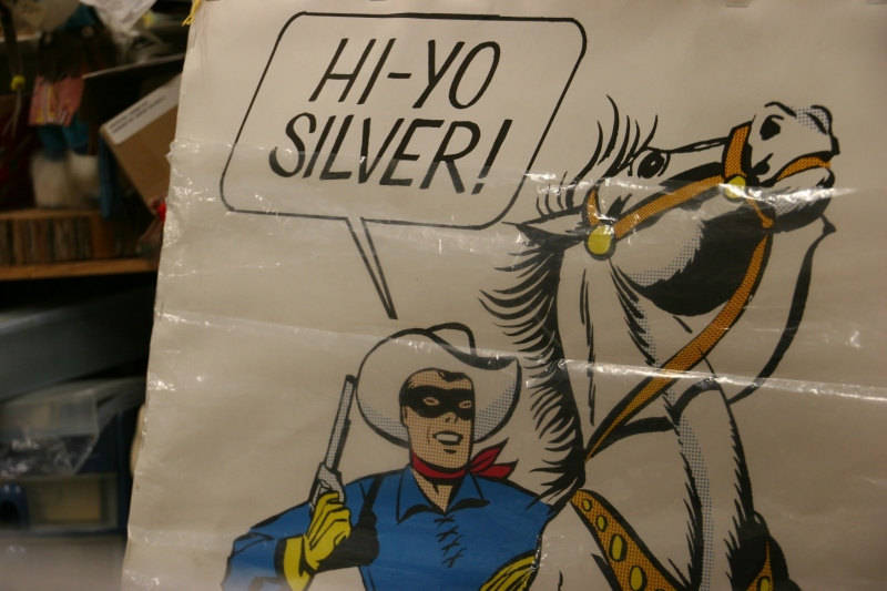 A Lone Ranger poster for sale.