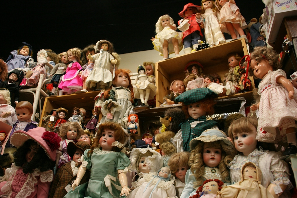 Dolls, dolls and more dolls. Everywhere.
