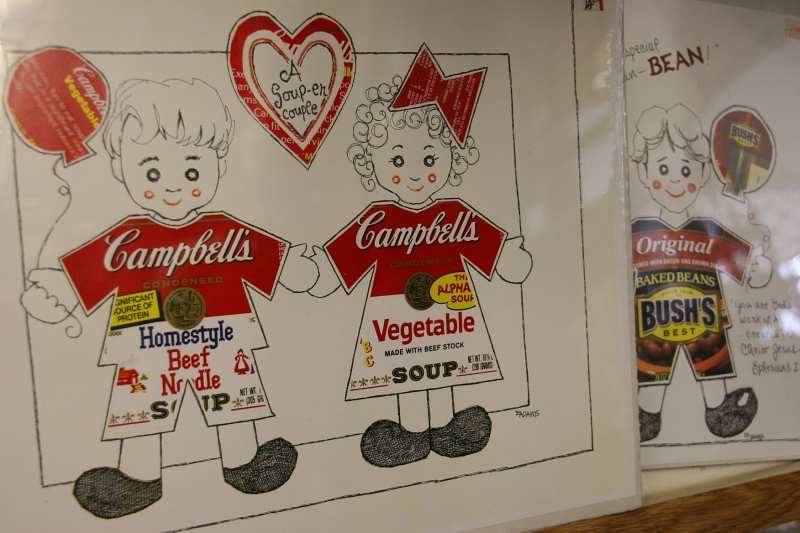 An example of the art Eloise creates with labels.