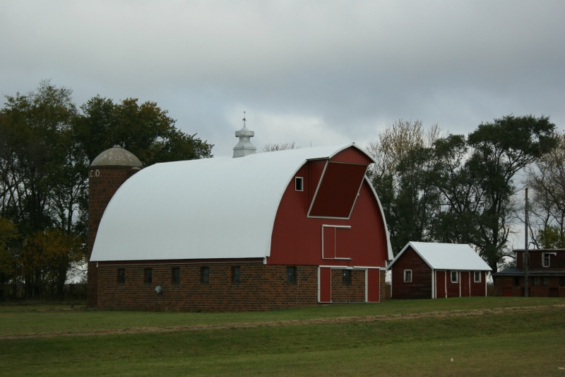 Along U.S. Highway 14 east of Springfield, this brick barn stands strong and tall.