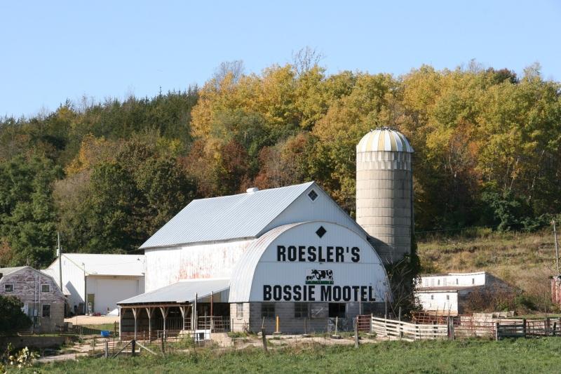 A dairy farm along Highway 14/61 south of La Crosse.