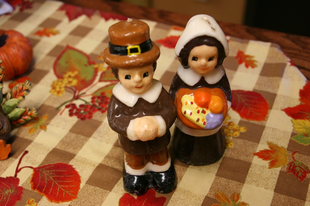 Decorations celebrate a thankfulness to God for the harvest.