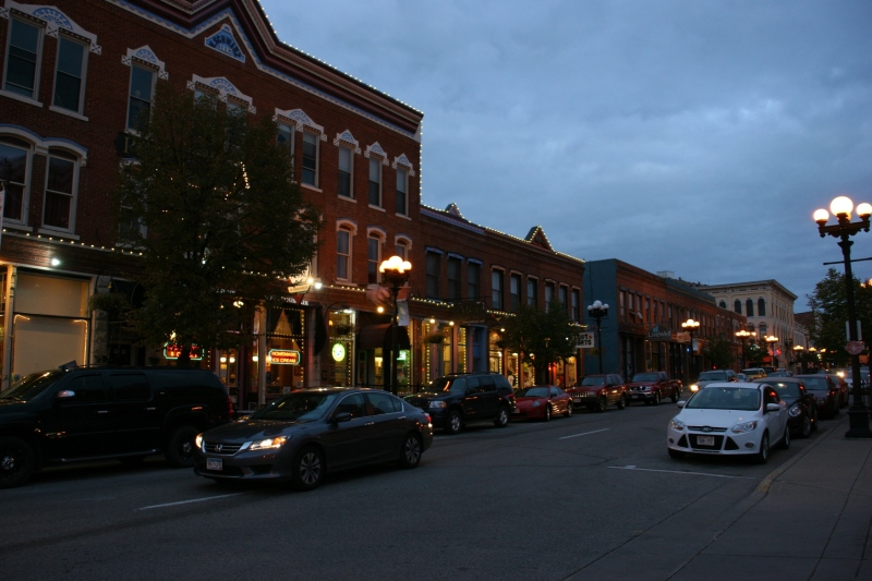 Another view of Pearl Street in historic downtown La Crosse. I love the old buildings and the signage here.