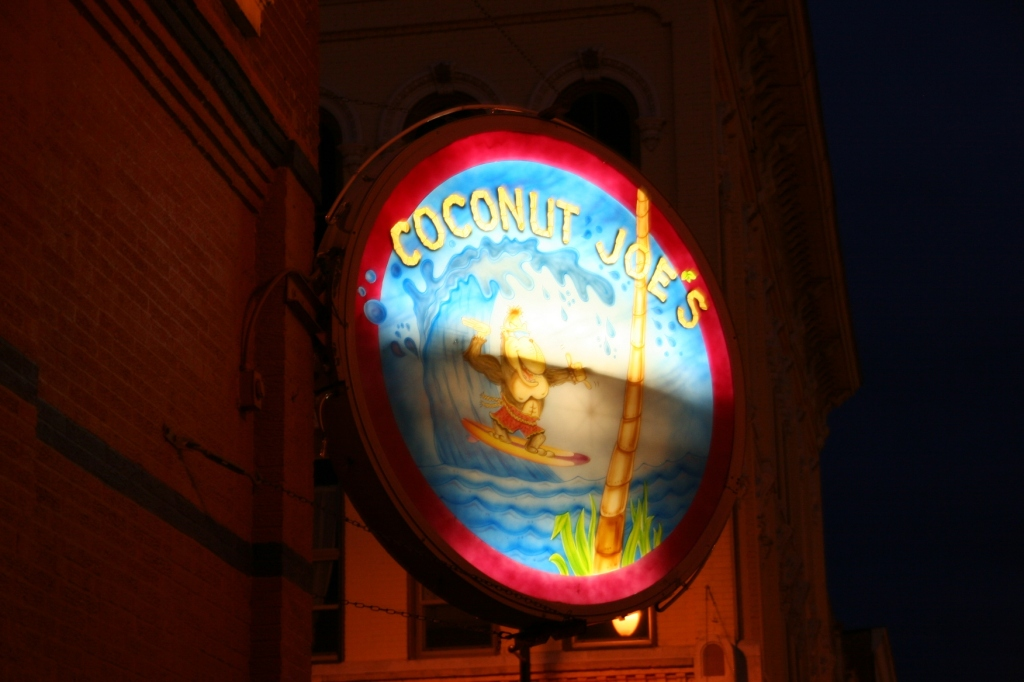 Signage marks another La Crosse bar.