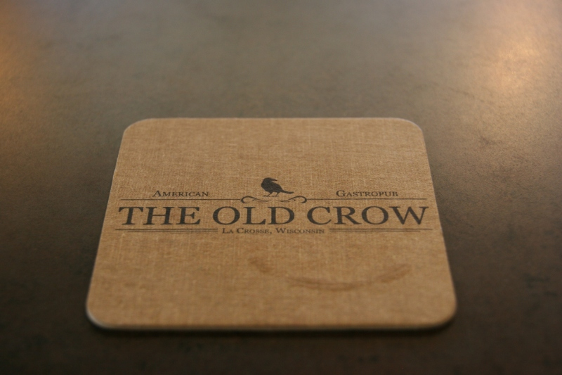 A coaster at The Old Crow. I love the simplistic design and minimalist decor.