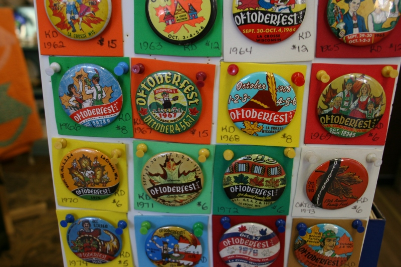 I spotted lots of Oktoberfest buttons. La Crosse recently celebrated its annual Oktoberfest.
