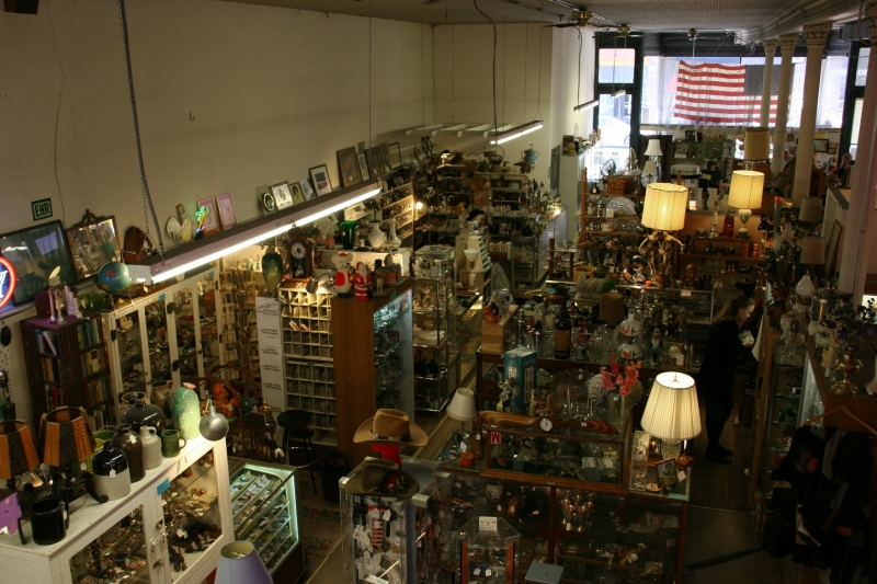 A small section of the first floor merchandise in this sprawling building.