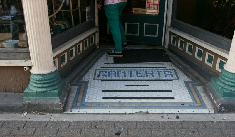 Details, like this tiled exterior entry, added to the charm of Antique Center.