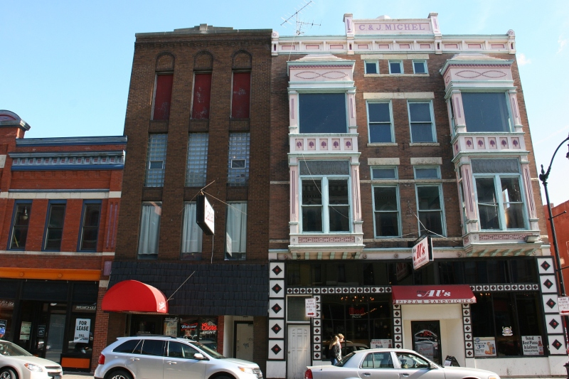 A snippet of the historic buildings in downtown La Crosse.