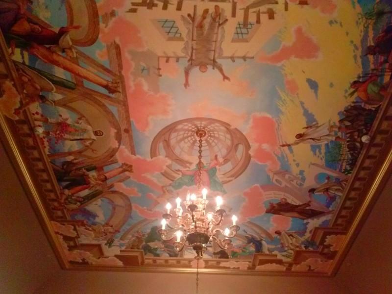Art abounds inside the Shrine. Photo courtesy of Miranda Helbling.