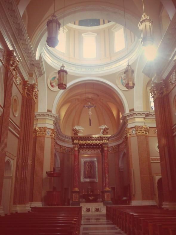 Inside the Shrine Church.