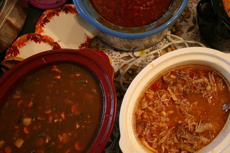 Soup, 42 crock close-ups