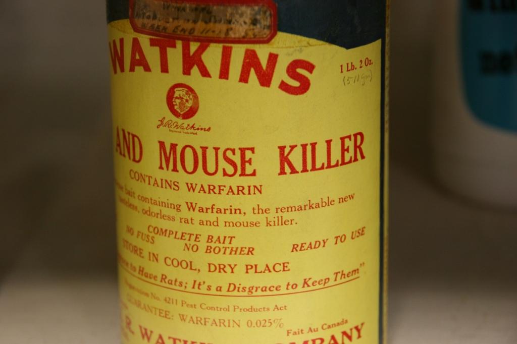 Watkins even sold mouse killer (aka warfarin) at one time.