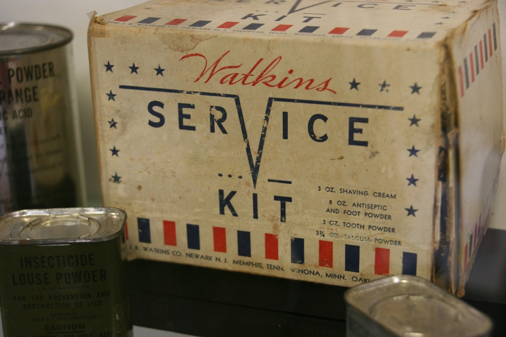 Watkins produced items for troops during WW II to fulfill government contracts.
