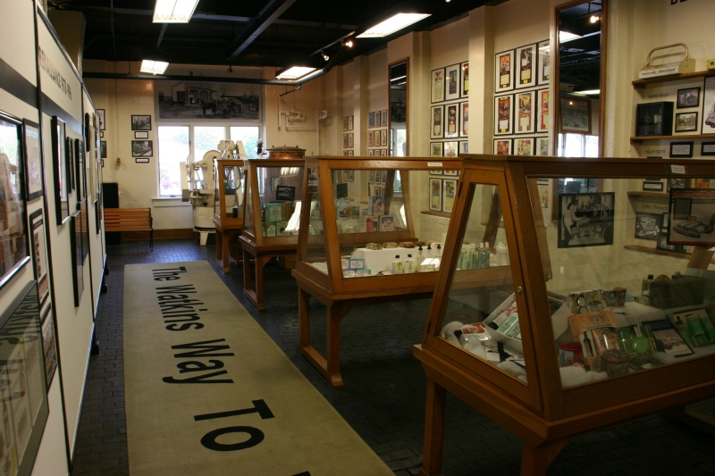 An overview of a section of the museum.