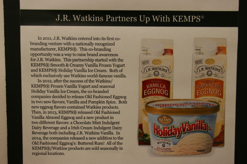 Watkins recently partnered with Kemps.