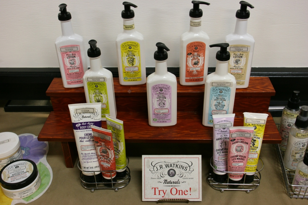 Watkins still sells beauty/healthcare items. These samples are in the store.