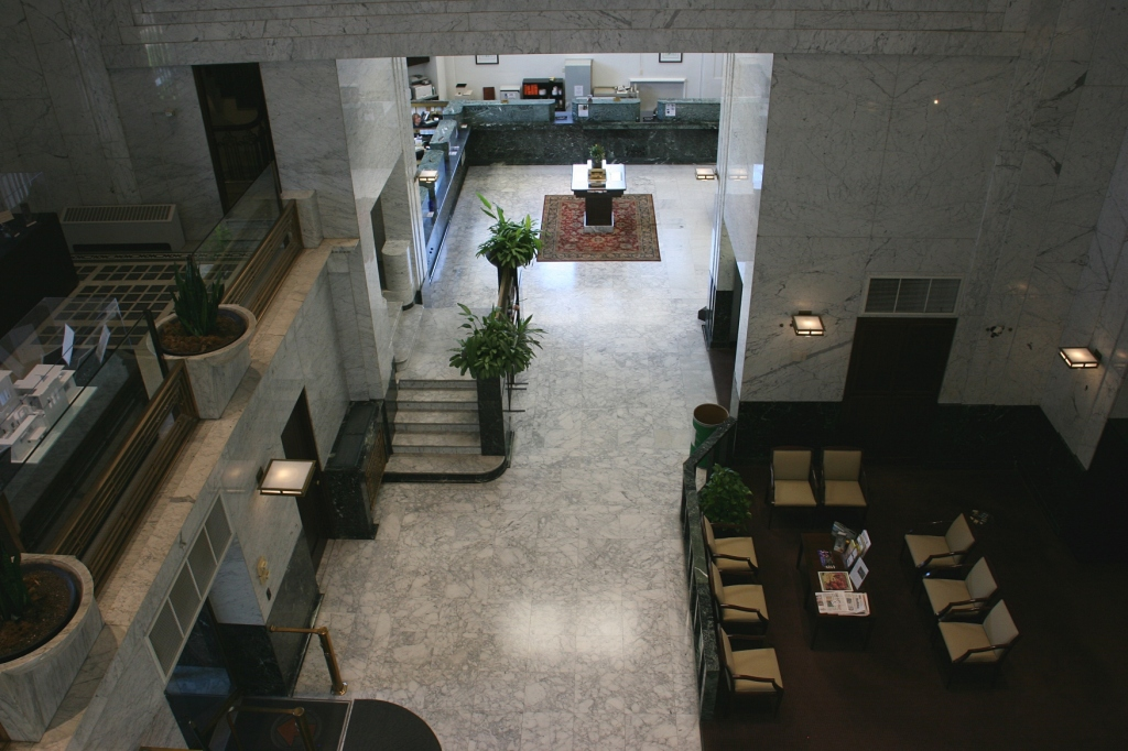 Another view of the lobby from above.