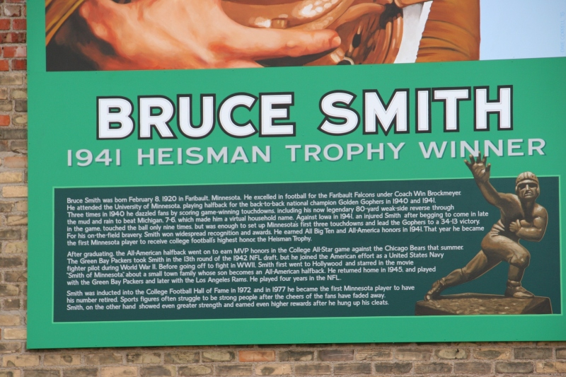 The mural includes substantial information about Bruce Smith, a nice addition to the mural.