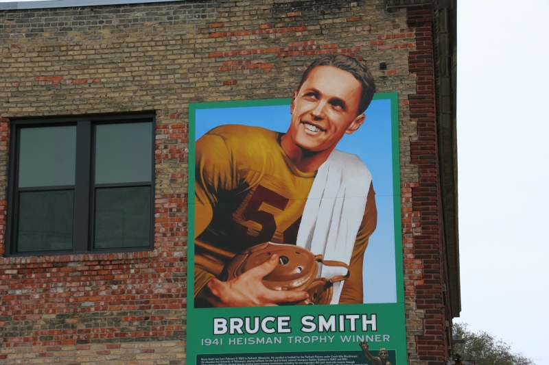 The mural honors Faribault's most-renowned athlete.