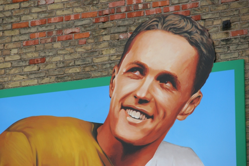 Bruce Smith, as painted by Dave Correll of Brushwork Signs.