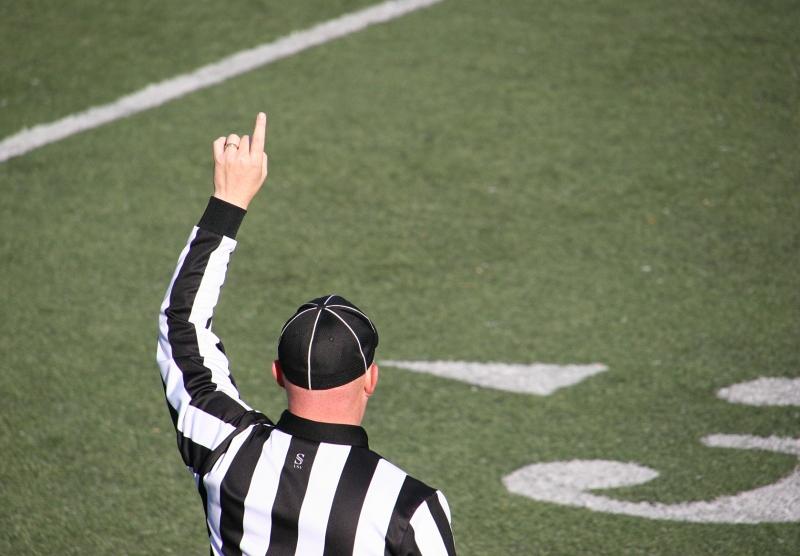 A ref makes a call.