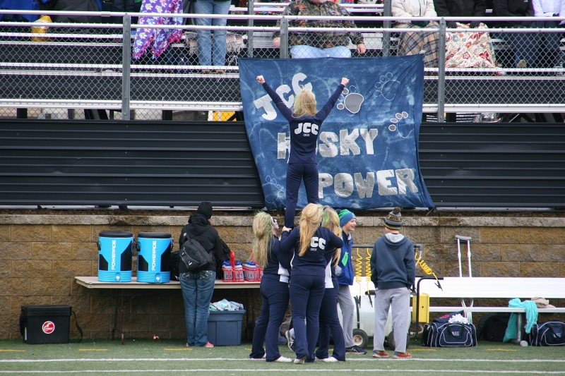 A sign proclaims Husky Power.