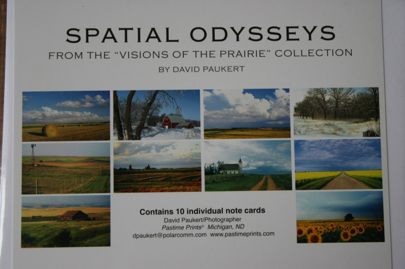 "The ""Spatial Odysseys"" collection of notecards by David Paukert."
