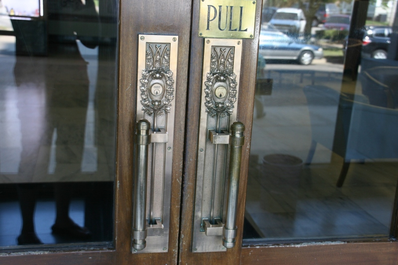 Even the door handles are exquisite.