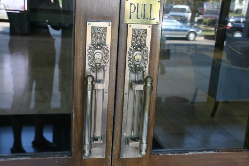 Even the door handles are exquisite.