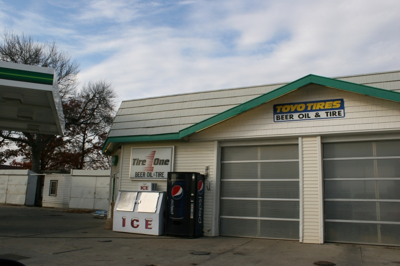 Beer Oil & Tire, not to be confuses with a business that sells beer in addition to oil and tires.
