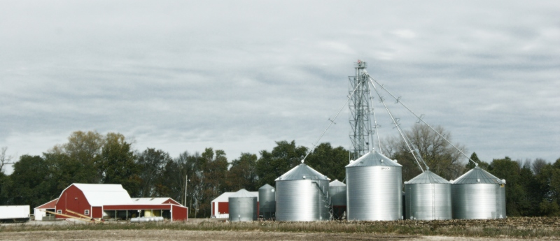 This farm site sits north of Lamberton in Redwood County.