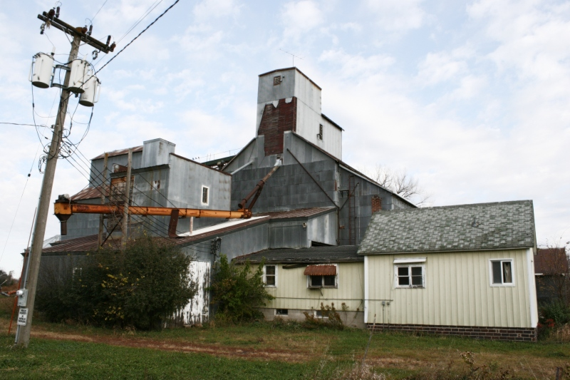 The grain elevator in Seaforth, in Redwood County, Minnesota, closed long ago.