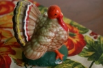Thanksgiving display, vintage turkey candle18