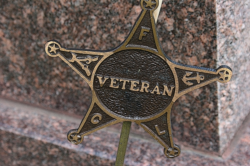 A star marks a veteran's grave in a southern Minnesota cemetery. Minnesota Prairie Roots file photo.