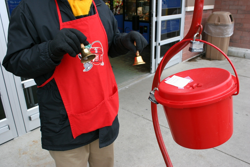 Hub replaced my husband and I in ringing bells at Walmart's south entry.