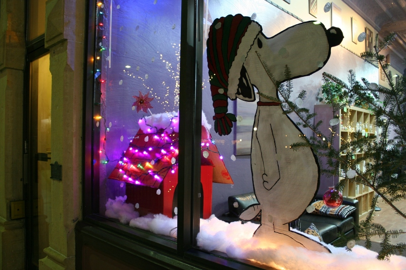 Studio 14 Salon & Spa placed first in the Peanuts themed division of the window decorating competition.