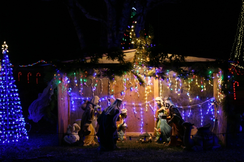 Holiday lights, 9 Nativity