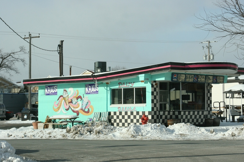 Dairy Delite in Lakeville, photographed on a frigid Saturday afternoon.
