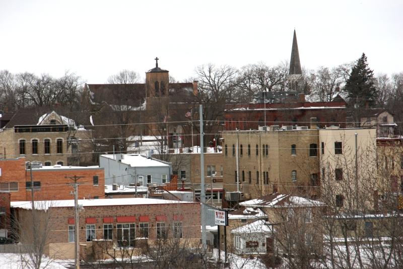 Steeples of First English Lutheran Church and