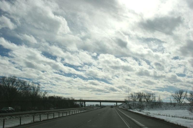Interstate 35, 11 driving south toward Owatonna
