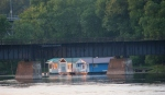 Mississippi River in Winona, 370boathouses